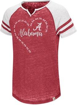 Colosseum Athletics Girls' University of Alabama The Babe Raglan T-shirt