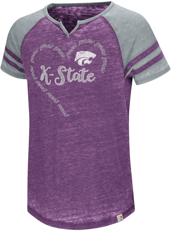 7ecc637bdf9 Colosseum Athletics Girls  Kansas State University The Babe Raglan T-shirt  - view number