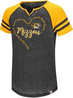Colosseum Athletics Girls' University of Missouri The Babe Raglan T-shirt