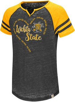 Colosseum Athletics Girls' Wichita State University The Babe Raglan T-shirt