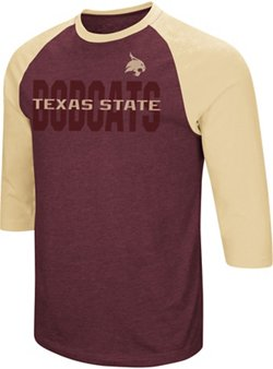 Colosseum Athletics Men's Texas State University Steal Home 3/4 Length Sleeve T-shirt