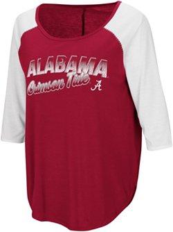 Colosseum Athletics Women's University of Alabama Draw A Crowd Baseball T-shirt
