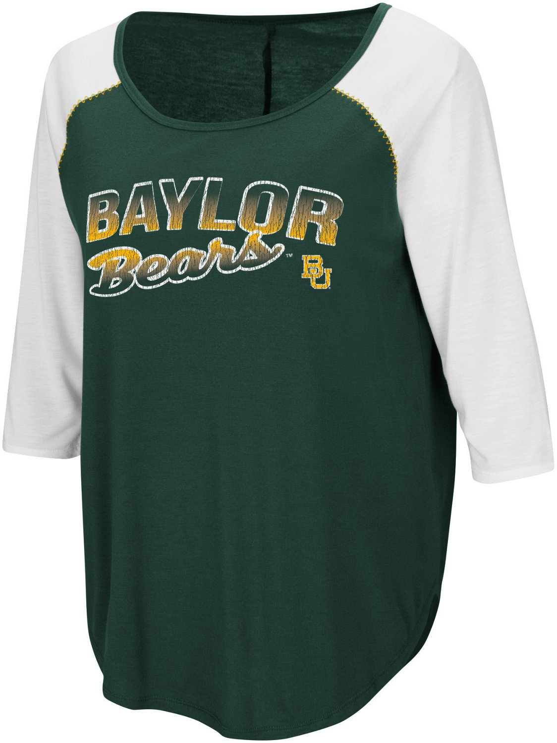 Colosseum Athletics Women's Baylor University Draw A Crowd Baseball T-shirt
