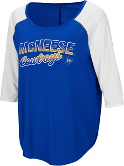 Colosseum Athletics Women's McNeese State University Draw A Crowd Baseball T-shirt