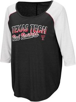 Colosseum Athletics Women's Texas Tech University Draw A Crowd Baseball T-shirt