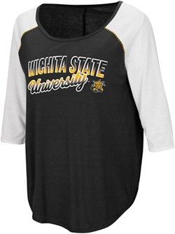 Colosseum Athletics Women's Wichita State University Draw A Crowd Baseball T-shirt