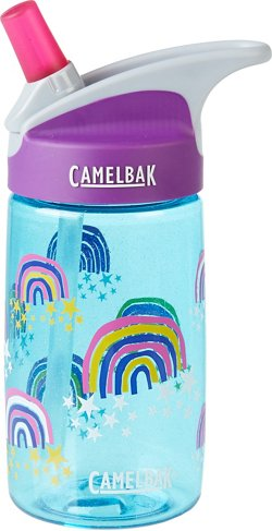 CamelBak eddy Kids' Glitter Rainbows Water Bottle