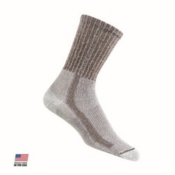 Large Men's Light Hiking Crew Socks