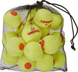 Tourna Kids' Orange Dot Stage 2 Low Compression Tennis Balls 18-Pack