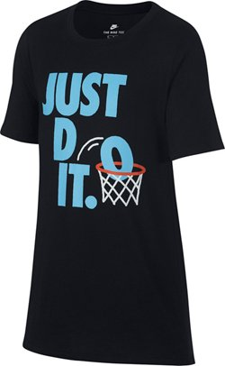 Nike Boys' Sportswear Just Do It Dunk Short Sleeve T-shirt