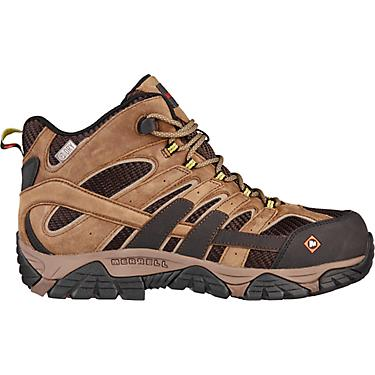 76a7aa2b6d4 Merrell Men's Moab II Vent Mid EH Composite Toe Lace Up Work Boots