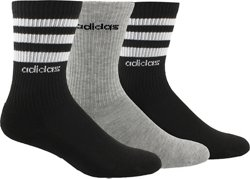 adidas 3-Stripe Crew Socks 3 Pack
