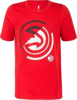 NBA Boys' Atlanta Hawks Double Slice Performance Short Sleeve T-shirt