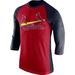 Men's St. Louis Cardinals Triblend Logo Raglan T-shirt