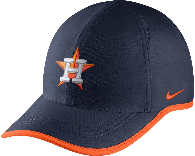 Nike Men s Houston Astros Aerobill Featherlight Cap  eea32b957f7