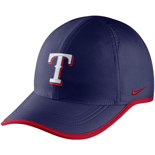 competitive price a57cb ddf8d Nike Men s Aerobill Featherlight Texas Rangers Baseball Cap   Academy