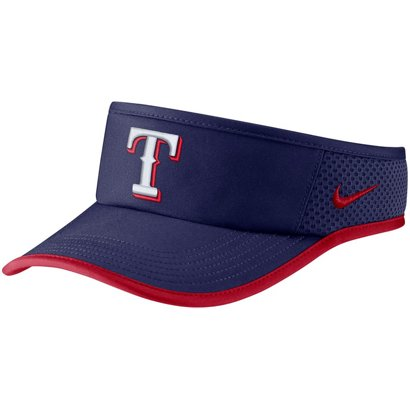 promo code adb67 2c130 ... Nike Men s Texas Rangers Aerobill Featherlight Visor. Rangers Headwear.  Hover Click to enlarge