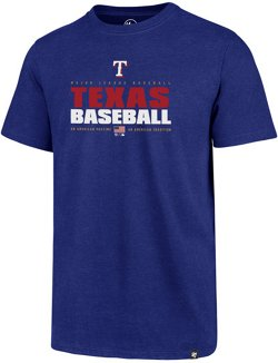 '47 Men's Texas Rangers Stacker Club Short Sleeve T-Shirt
