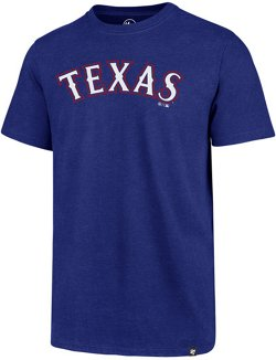 '47 Men's Texas Rangers Wordmark Club Short Sleeve T-Shirt