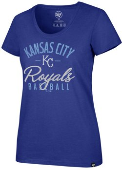'47 Women's Kansas City Royals Metallic Script Club Short Sleeve T-Shirt