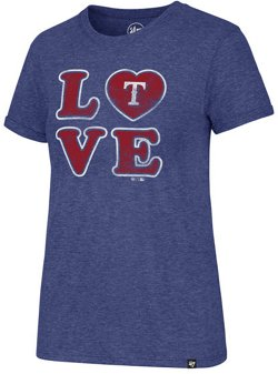 '47 Women's Texas Rangers Love Match Hero Short Sleeve T-Shirt