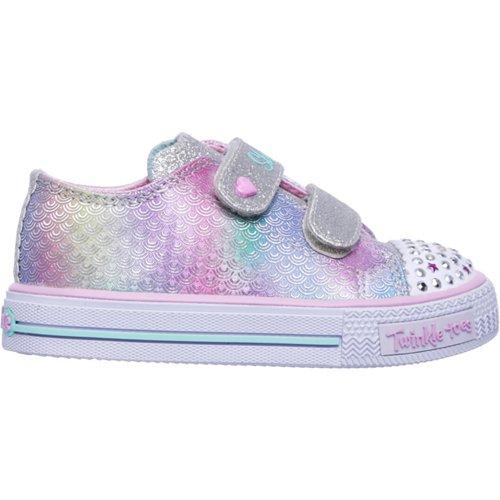SKECHERS Girls' Twinkle Toes Shuffles Ms. Mermaid Shoes