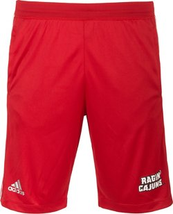 adidas Men's University of Louisiana at Lafayette 3-Stripes Knit Shorts