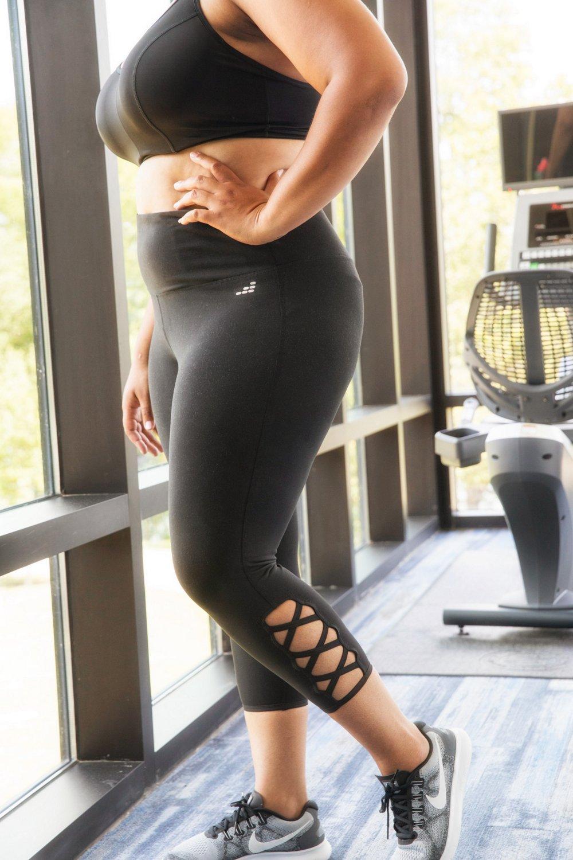 BCG Women's Tummy Control Lattice Plus Size 7/8 Legging - view number 12