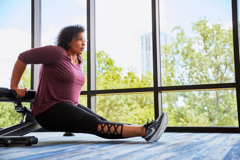 BCG Women's Tummy Control Lattice Plus Size 7/8 Legging - view number 7