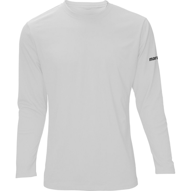 54a15f20a391 Marucci Boys' Long Sleeve Performance T-Shirt White, Medium - Youth  Baseball Tops