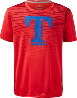 MLB Boys' Texas Rangers True Grit Dri-Tek T-shirt