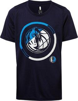 NBA Boys' Dallas Mavericks Double Slice Performance Short Sleeve T-shirt