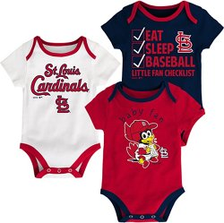 MLB Infants' St. Louis Cardinals Play Ball Creepers 3-Pack