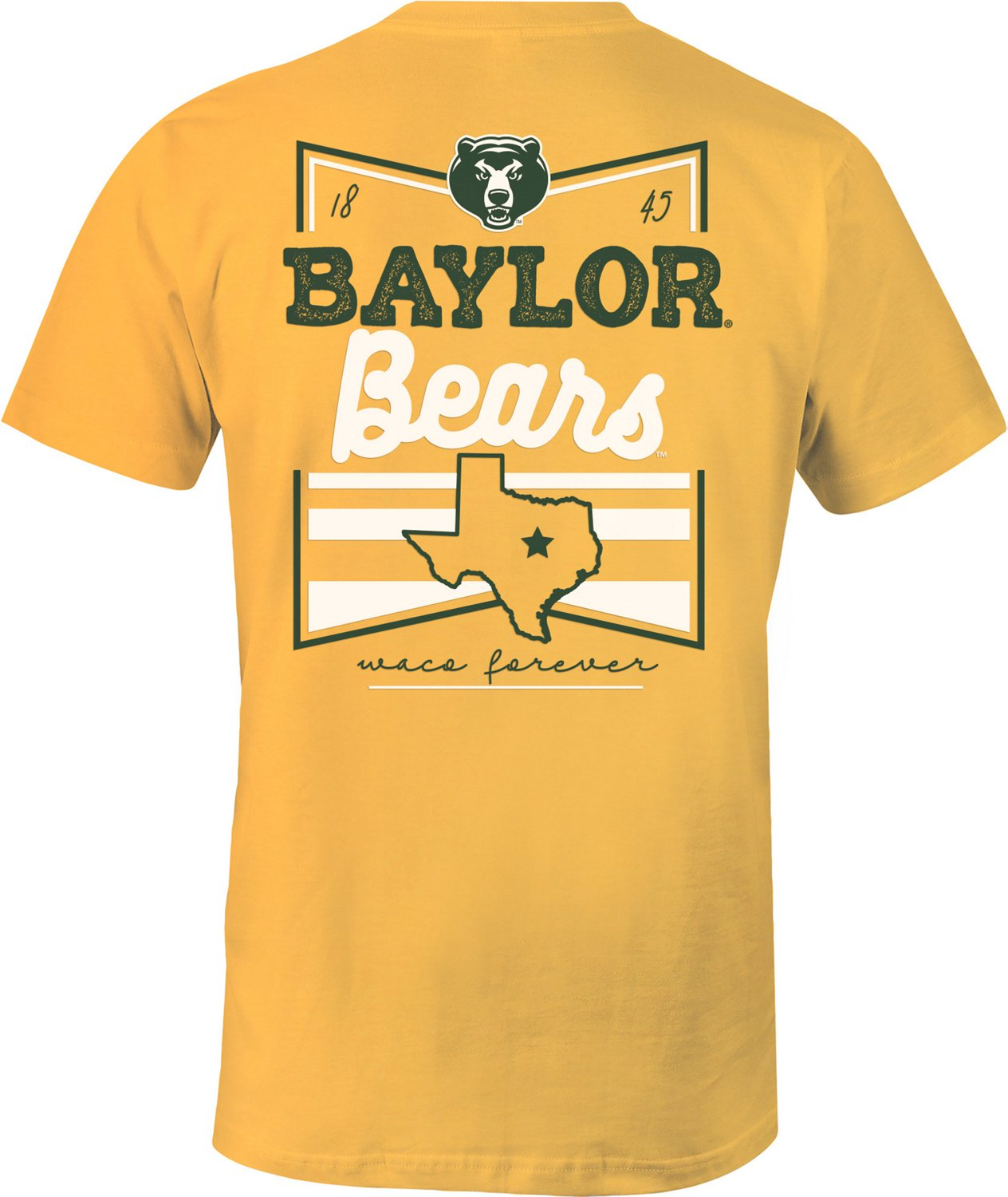 Image One Women's Baylor University Forever Script Flag T-shirt