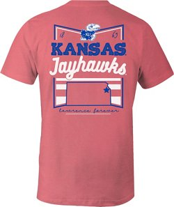Image One Women's University of Kansas Forever Script Flag T-shirt