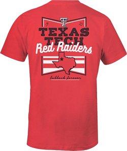 Image One Women's Texas Tech University Forever Script Flag T-shirt