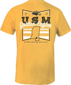 Image One Women's University of Southern Mississippi Forever Script Flag T-shirt