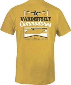 Image One Women's Vanderbilt University Forever Script Flag T-shirt