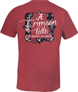 Image One Women's University of Alabama State Cutout Comfort Color T-shirt