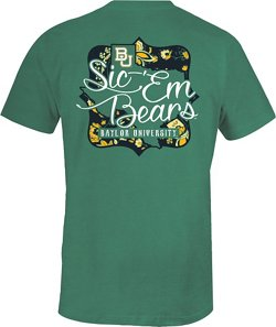 Image One Women's Baylor University State Cutout Comfort Color T-shirt