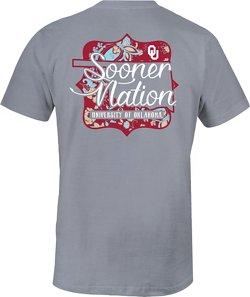 Image One Women's University of Oklahoma Cutout Comfort Color T-shirt
