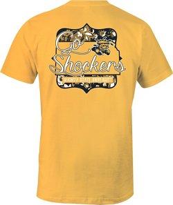 Image One Women's Wichita State University State Cutout Comfort Color T-shirt