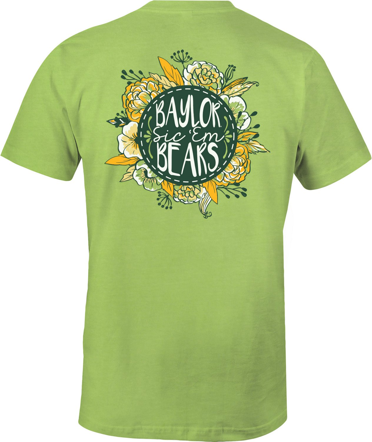 Image One Women's Baylor University Vintage Floral Comfort Color T-shirt