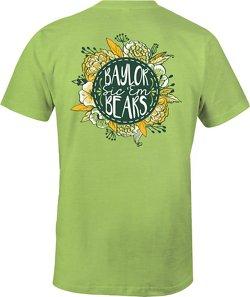 Image One Women's Baylor University Vintage Floral Comfort Color T-shirt