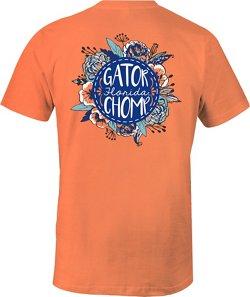 Image One Women's University of Florida Vintage Floral Comfort Color T-shirt