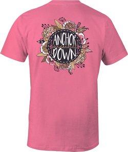 Image One Women's Vanderbilt University Vintage Floral Comfort Color T-shirt