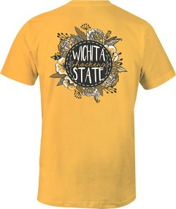 Image One Women's Wichita State University Vintage Floral Comfort Color T-shirt