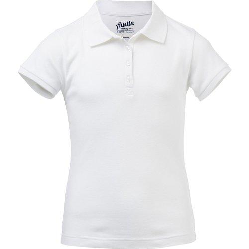 Austin Trading Co. Girls' Uniform Interlock Polo Shirt