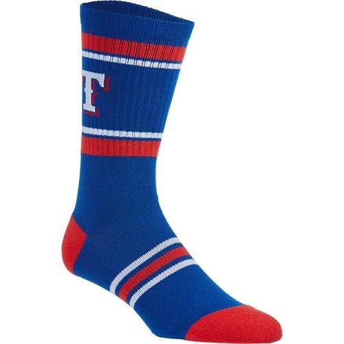 PKWY Men's Texas Rangers Crew Sock