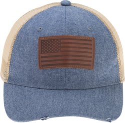 Academy Sports + Outdoors Men's Distressed USA Logo Cap